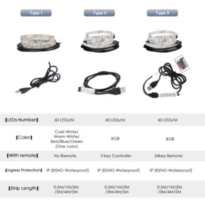 USB LED Strip DC 5V Flexible Light Lamp