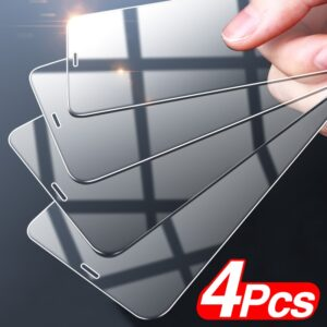 4Pcs Full Cover Tempered Glass For iPhone 12 Pro Max