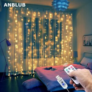 USB String Lights 3M LED Curtain Garland on the Window