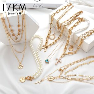 17KM Bohemian Gold Necklaces For Women