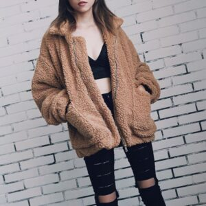 Elegant Faux Fur Coat For Women
