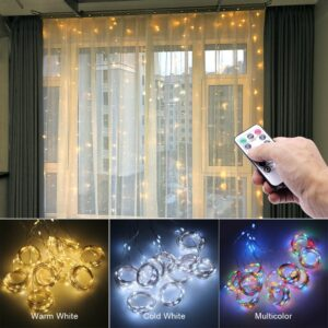 USB String Lights 3M LED Curtain Garland on the Window