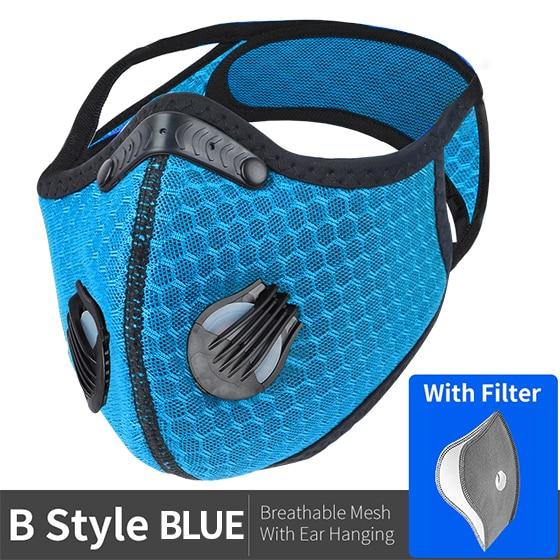 WEST BIKING Sport Face Mask Activated Carbon Filter Dust Mask