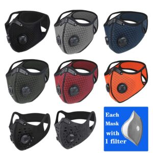 WEST BIKING Sport Face Mask Activated Carbon Filter Dust Mask